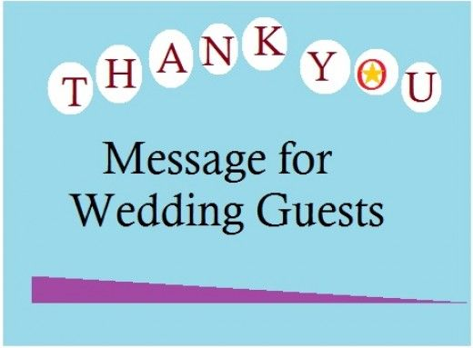 thank you message for wedding guests samples of what to write in a