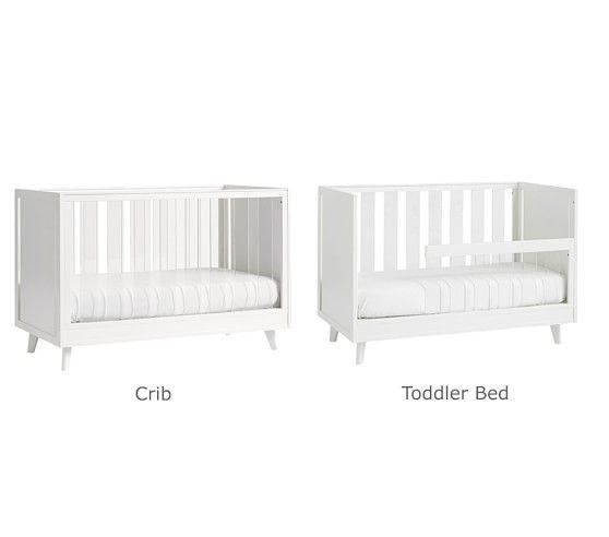 Sloan Acrylic Convertible Crib In 2020 Cribs Convertible Crib Pottery Barn Crib