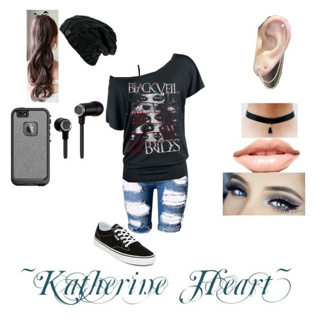 """Katherine Heart"" by mikomiuzamaki on Polyvore featuring Topshop, M&Co, Vans, Otis Jaxon, MDMflow, LifeProof and Master & Dynamic"