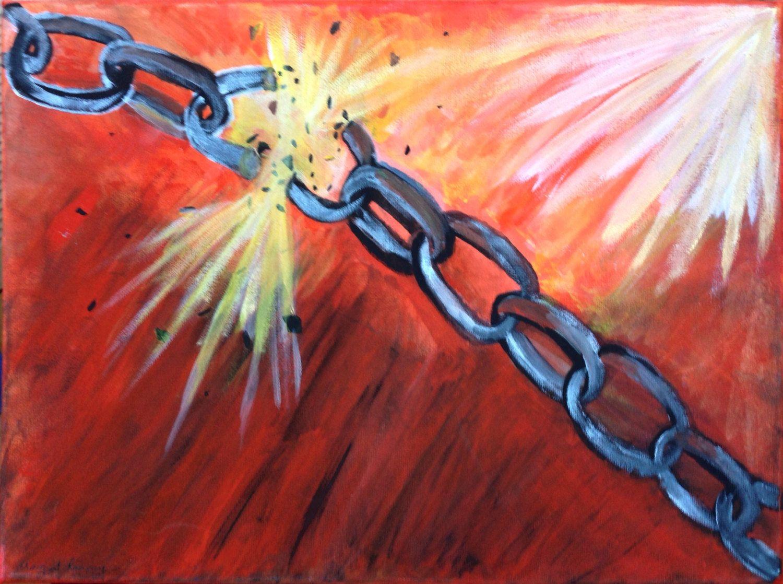 BREAK EVERY CHAIN Print   Break every chain, Prophetic art, Painting