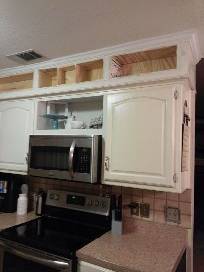 From Outdated Soffits to Usable Space DIY Project -   23 diy projects Storage kitchen cabinets ideas