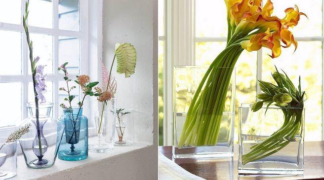 decora las ventanas con jarrones con flores en primavera