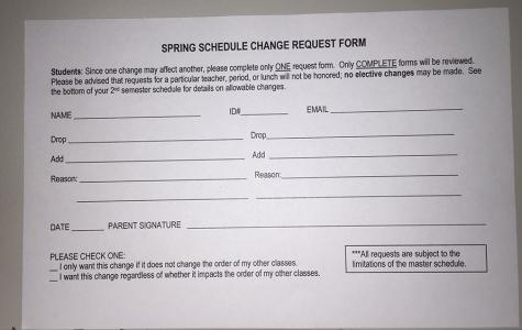 Schedule Change Requests – Cen10 News