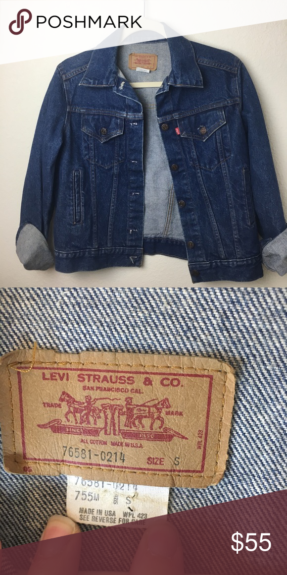 Levi S Denim Jean Jacket Vintage Made In Usa Small Denim Jean Jacket Jean Jacket Jackets