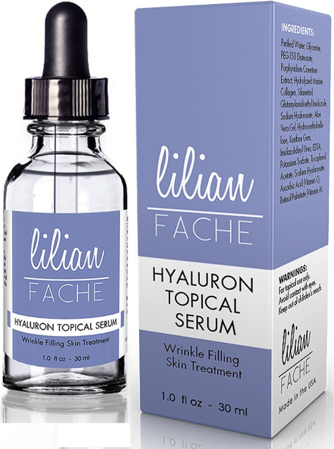 Lilian fache hyaluronic acid topical wrinkle erasing serum ml