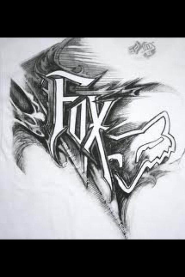 Pin By Logan Seals On Brands Fox Racing Tattoos Bike Drawing Fox Racing Logo