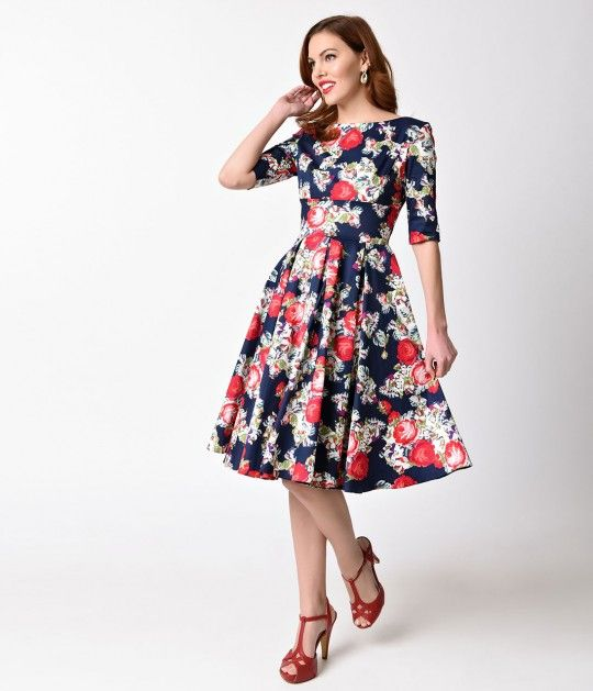 78559a9155 Vintage Style · Made for a floral quest! This alluring frock from The  Pretty Dress Company in a