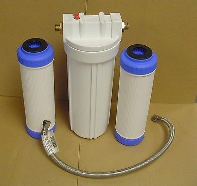 Inline (under Sink) Dishwasher Water Softener / Filter System For Hard Water