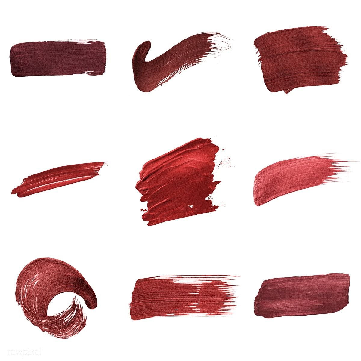 Red shimmery brush stroke badges free image by rawpixel