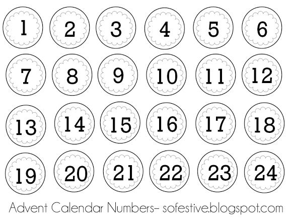 Advent Calendar Numbers for Printing! | Advent calendar ...