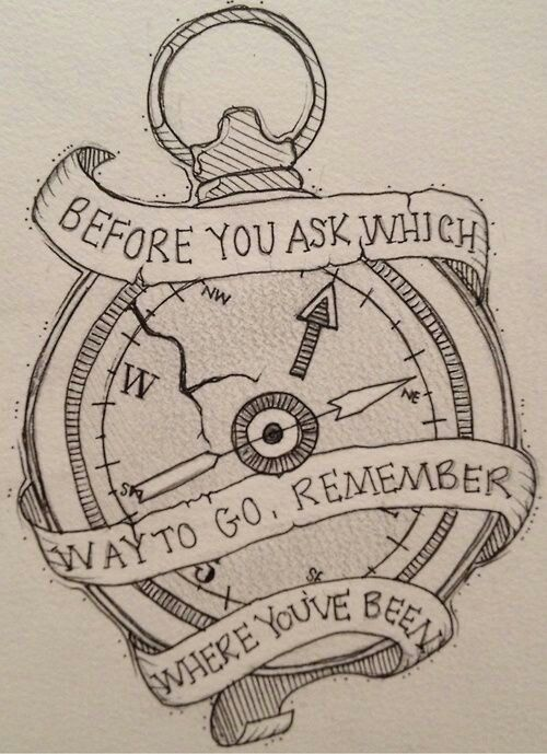 Compass _ Quote | Tattoo Ideas?<3 | Pinterest | Compass, Tattoo and ...