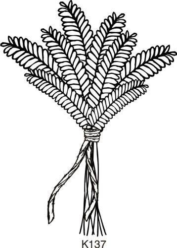 Bunch of Wheat color, cut and paste into a craft such as