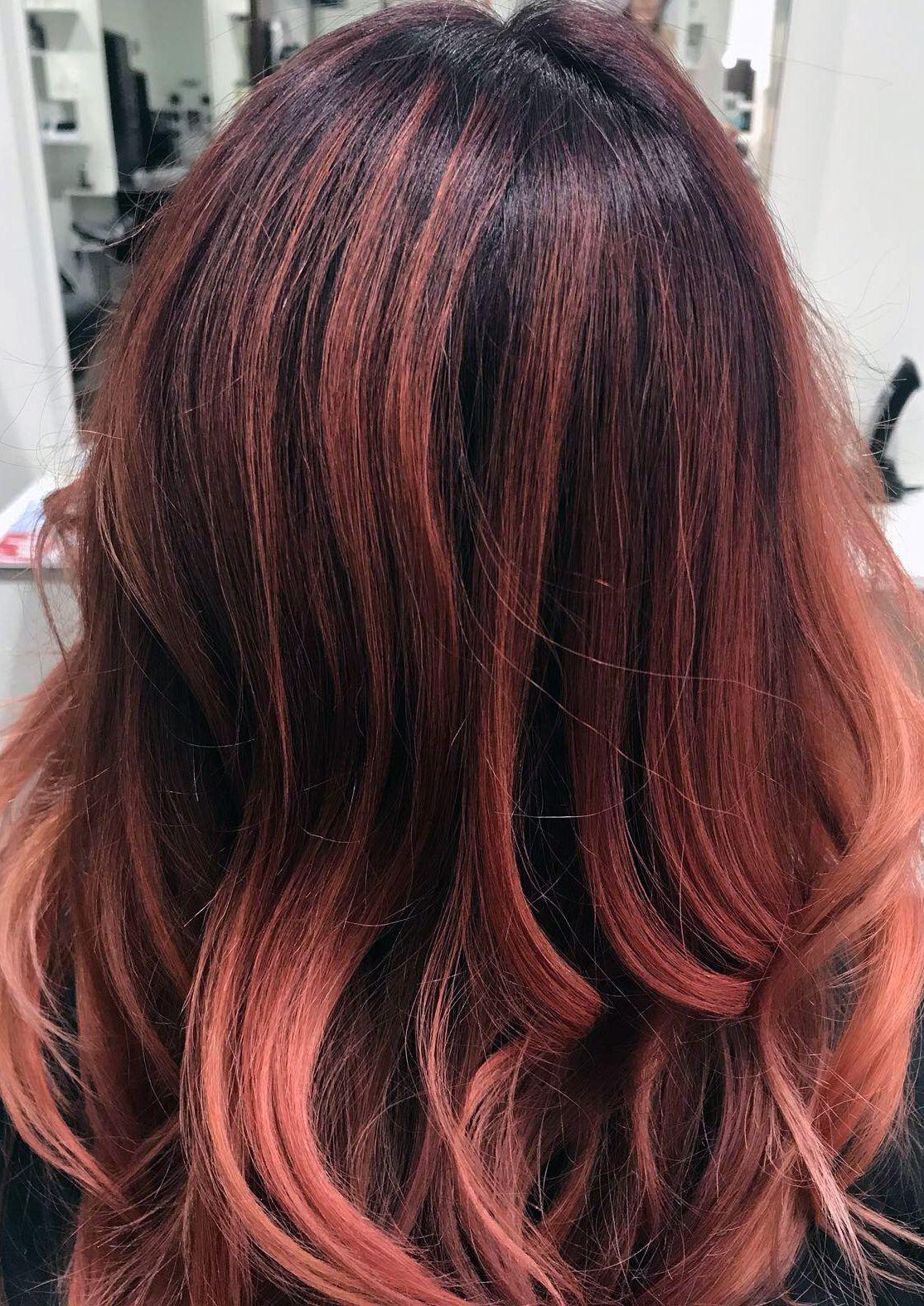 Haarfarben Trends 2019 Kreative Balayage D Machts Lounge Alexa