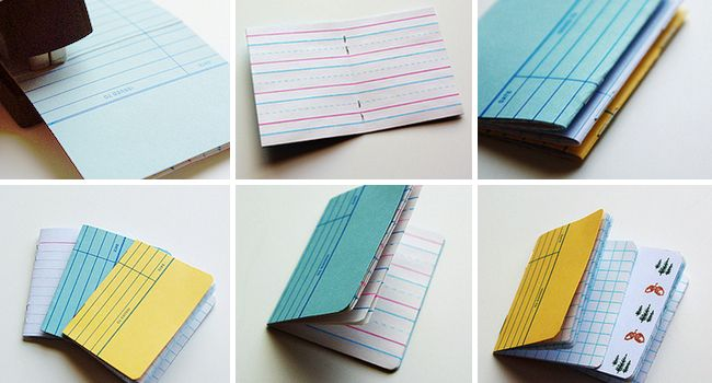 Make These Little Library Card Notebooks Library card, Library - sample notebook paper