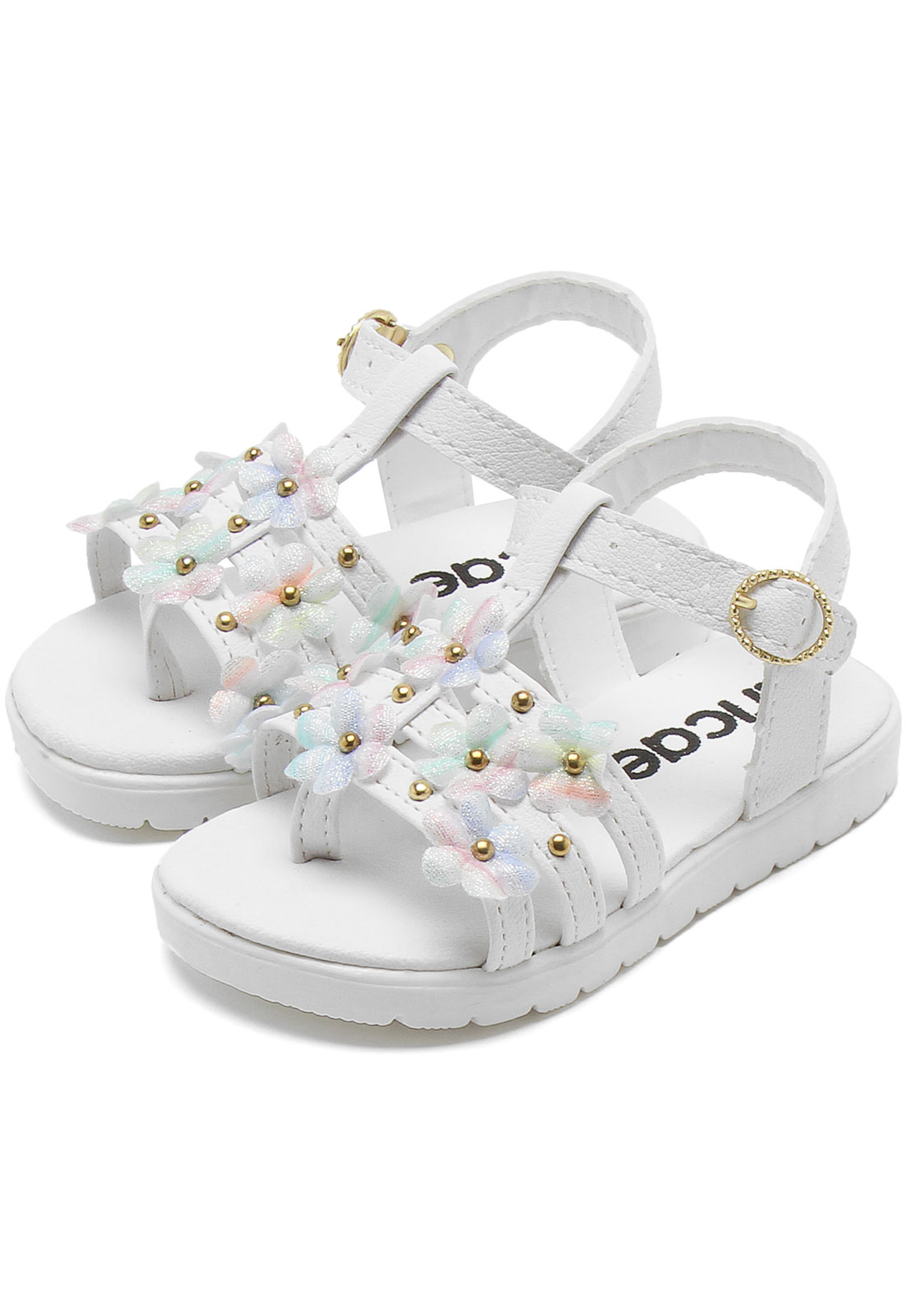 Tênis Tricae Menina Coração Branco   Sapatos menina