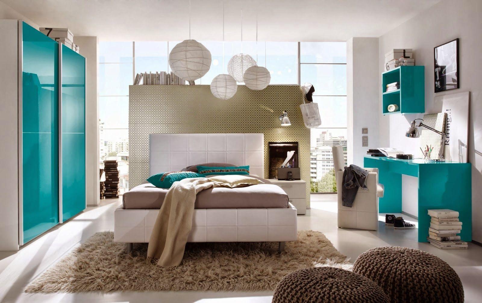 Cuarto turquesa decoraci n pinterest dormitorio gris for Habitacion blanca y turquesa