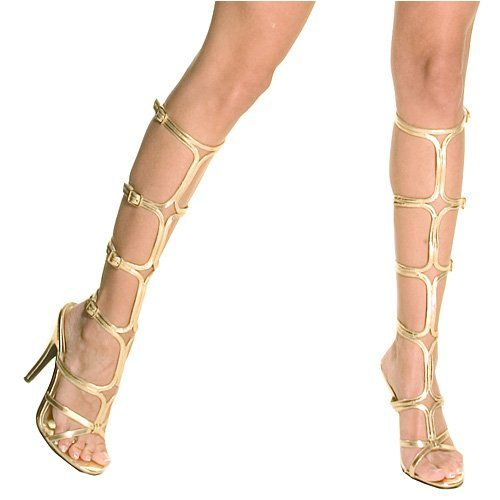 125686375d3 SHOE TRENDS 2014 | gold high heel greek shoes with ancient goddess ...