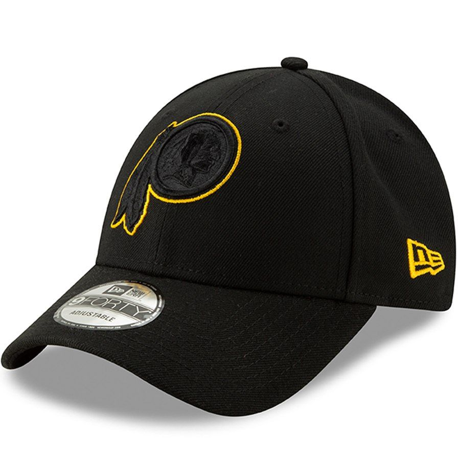 Men s Washington Redskins New Era Black Momentum 9FORTY Adjustable Snapback  Hat cbd3785e1
