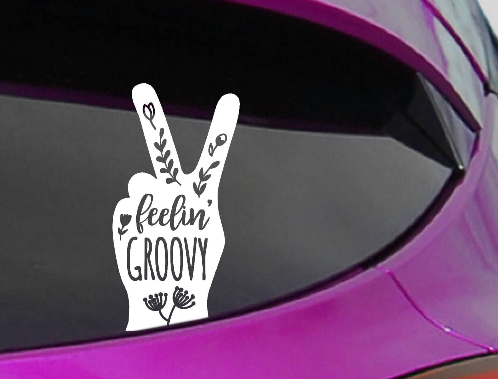 Feeling Groovy Decal - Gifts for Hippies - Peace Sign ...