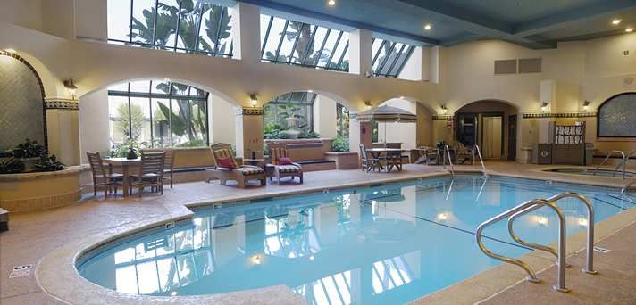Embassy suites los angeles downey hotel ca indoor - Indoor swimming pool in los angeles ...