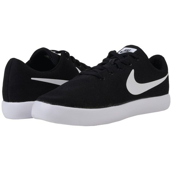 Nike Essentialist Canvas (Black/White) Men's Shoes ($50) ❤ liked on