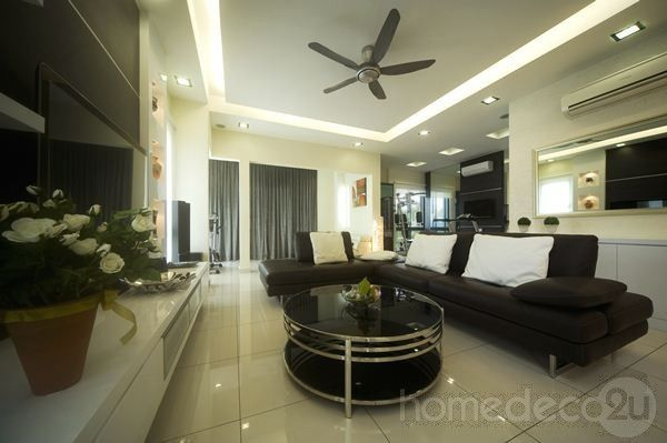 Modern Contemporary Interior Design On 2 Storey House In Kepong Malaysia By Living Space Creative