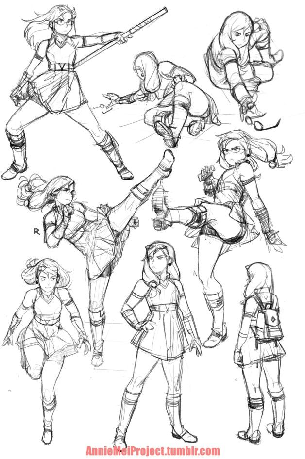 Annie poses | Sketch | Drawing poses, Action poses, Drawings