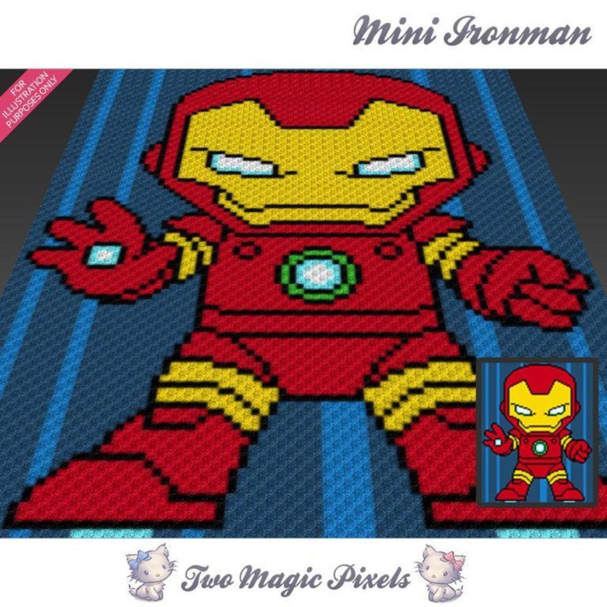Mini Ironman C2C Crochet Graph   Manta, Tejido y Mantas de ganchillo