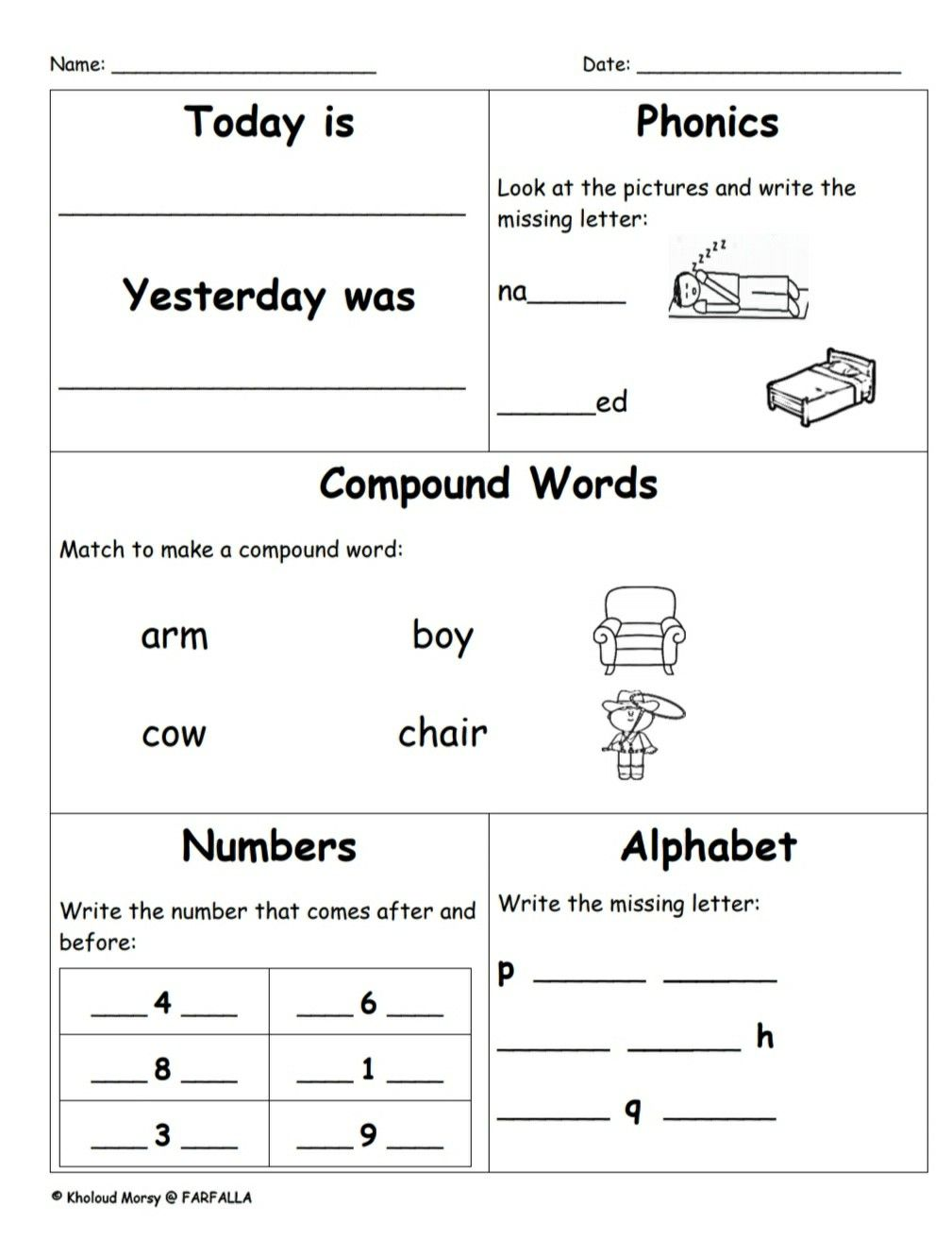 This Product Contains 60 Pages Of Differentiated Skill Work That Is The Perfect Addition To Your Morning R Compound Words Word Family Worksheets Math Practices