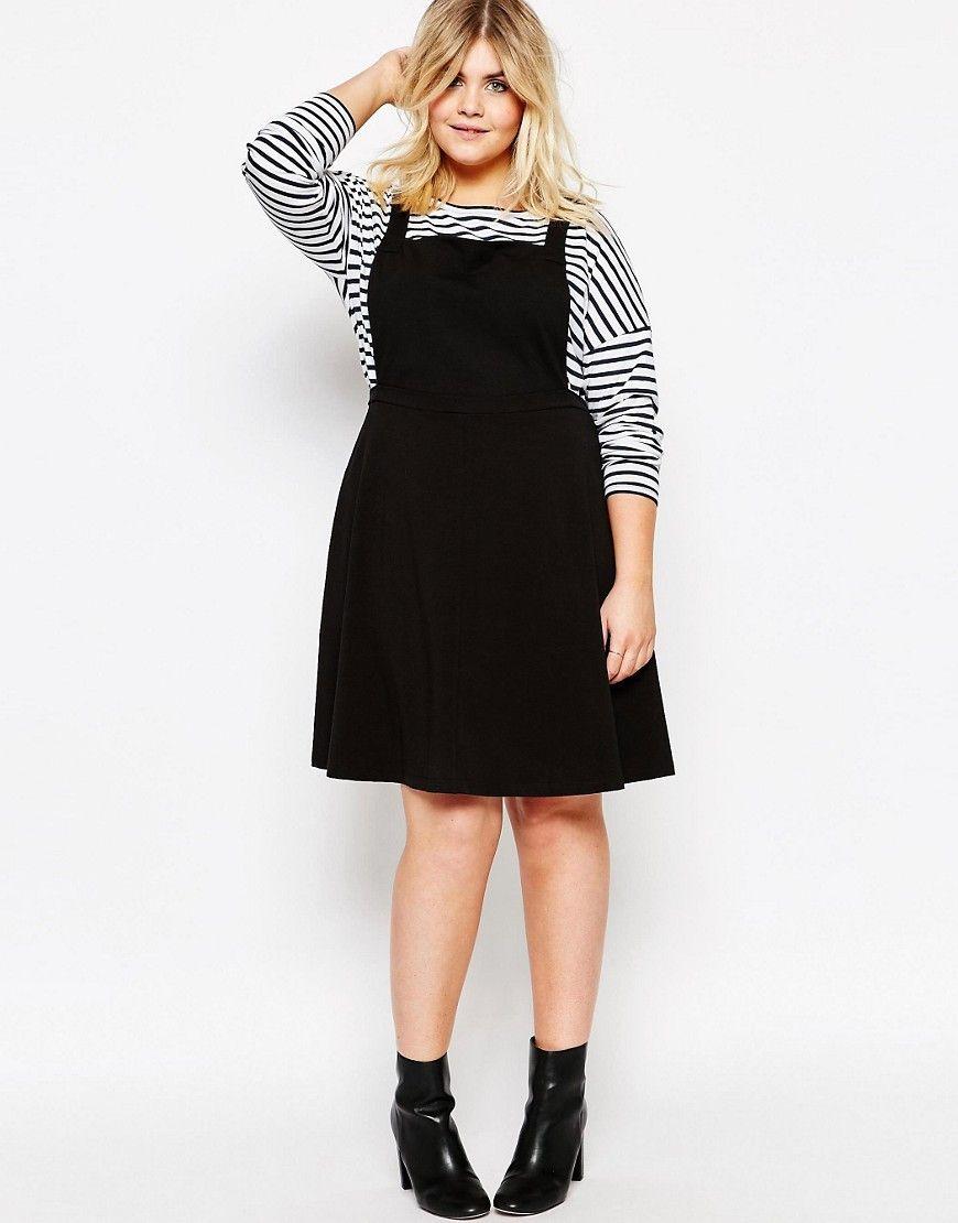CURVE Jersey Basic Pinafore Dress | Clothes | Plus size pinafore ...