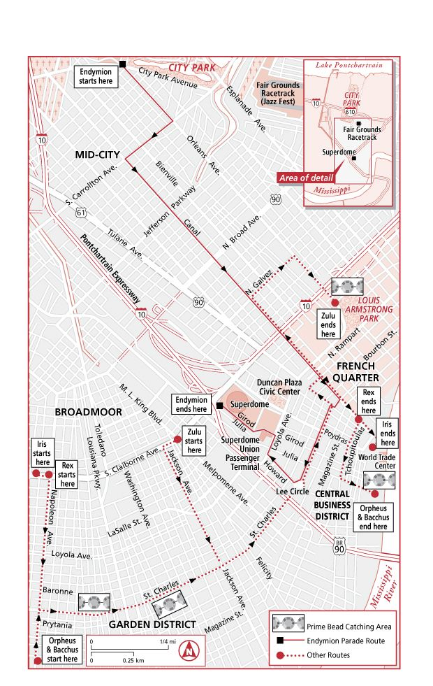 Major Mardigras Parade Routes Jpg Parade Route Map New Orleans