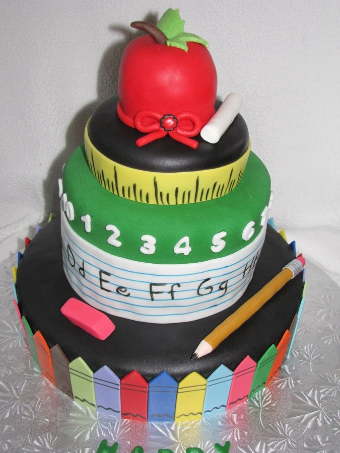 Cake Designs For Teachers : teacher retirement party Teachers retirement cake ...