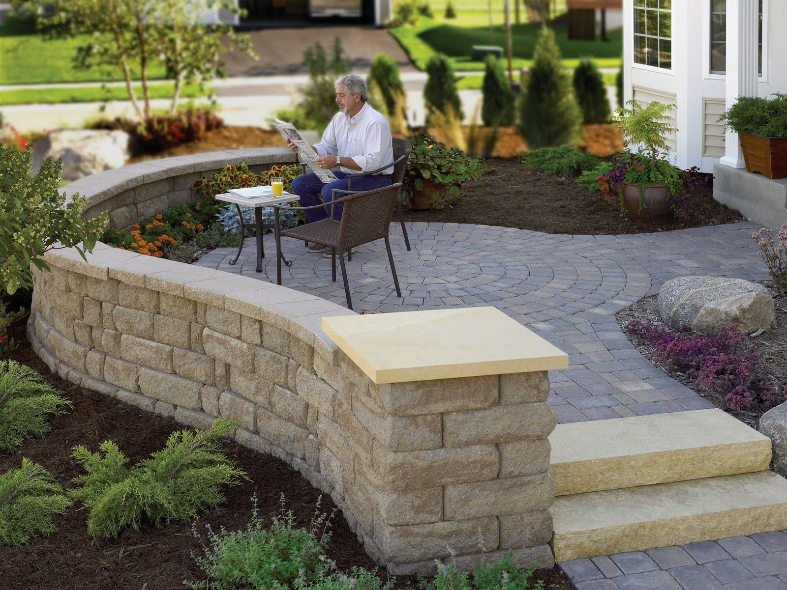 I Love The Idea Of A Front Yard Patio Patio Wall Front Yard