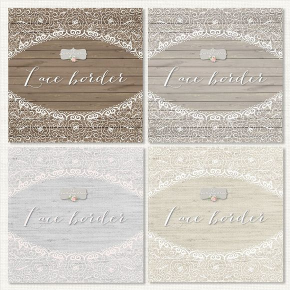 Check Out Rustic Lace Border By Burlapandlace On Creative Market
