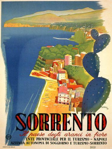 Details about SORRENTO Napoli Naples Beach Italia Italy ...