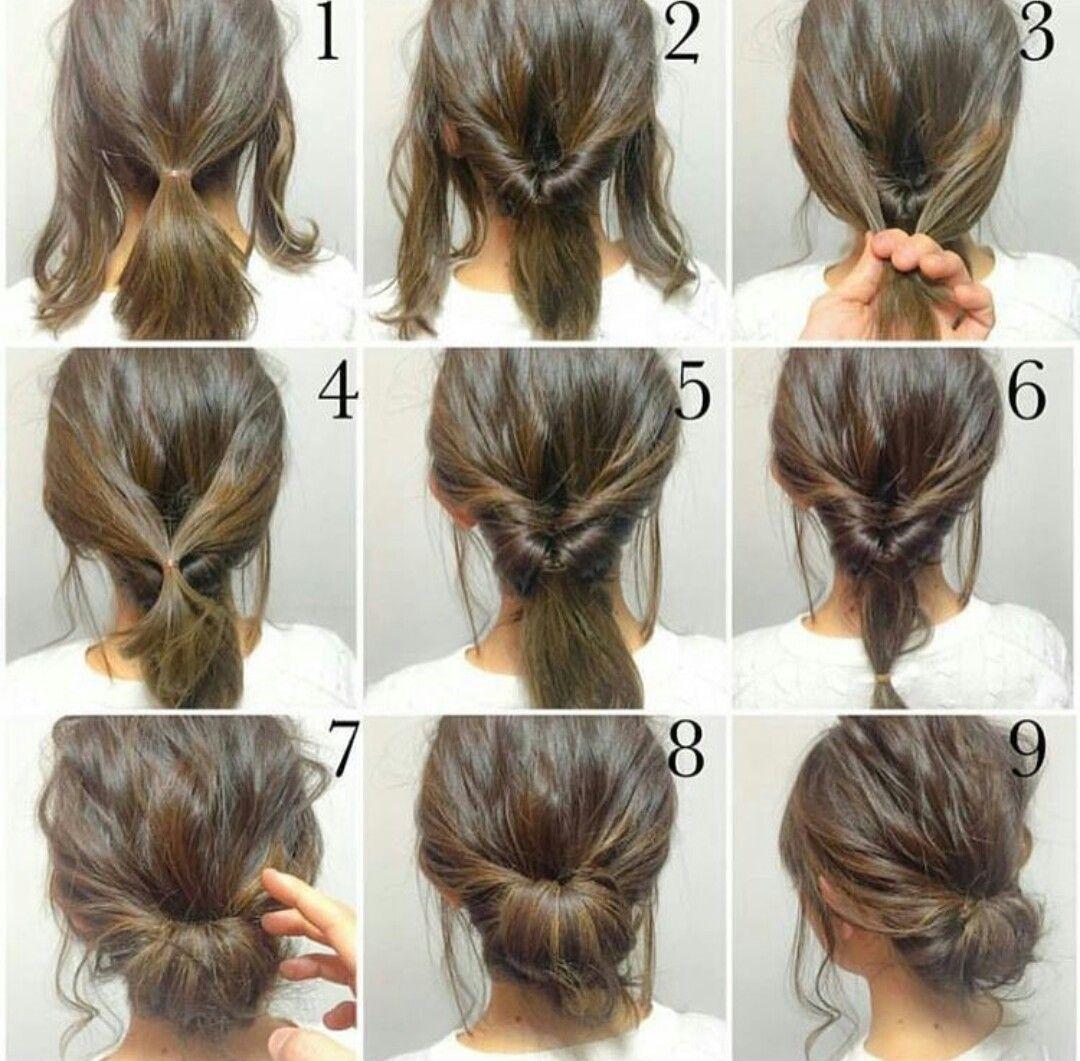 Peinado sencillo easy hairstyle hair and beauty pinterest