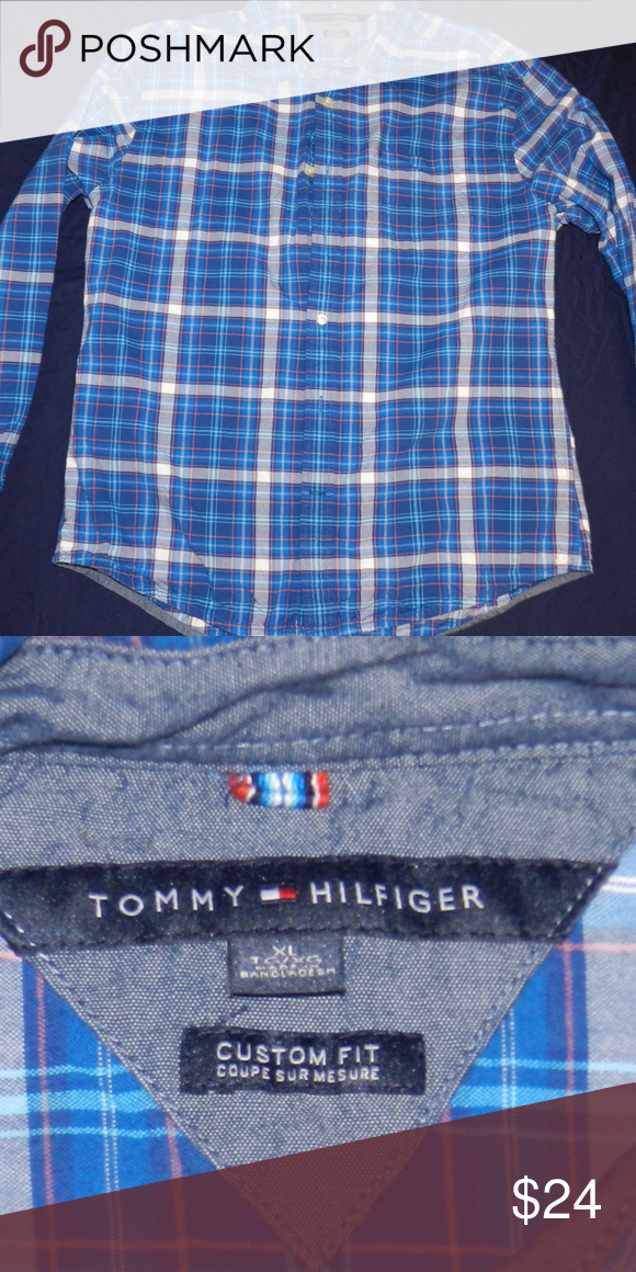 63d422ea Tommy Hilfiger button down Mens Tommy Hilfiger button down shirt XL Tommy  Hilfiger Shirts Casual Button Down Shirts