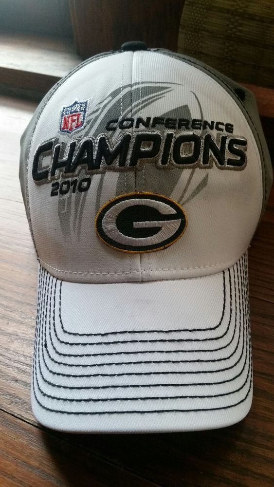 NFL Green Bay Packers Reebok 2010 Conference Champions Super Bowl XLV Cap  Hat  28fcb34c7