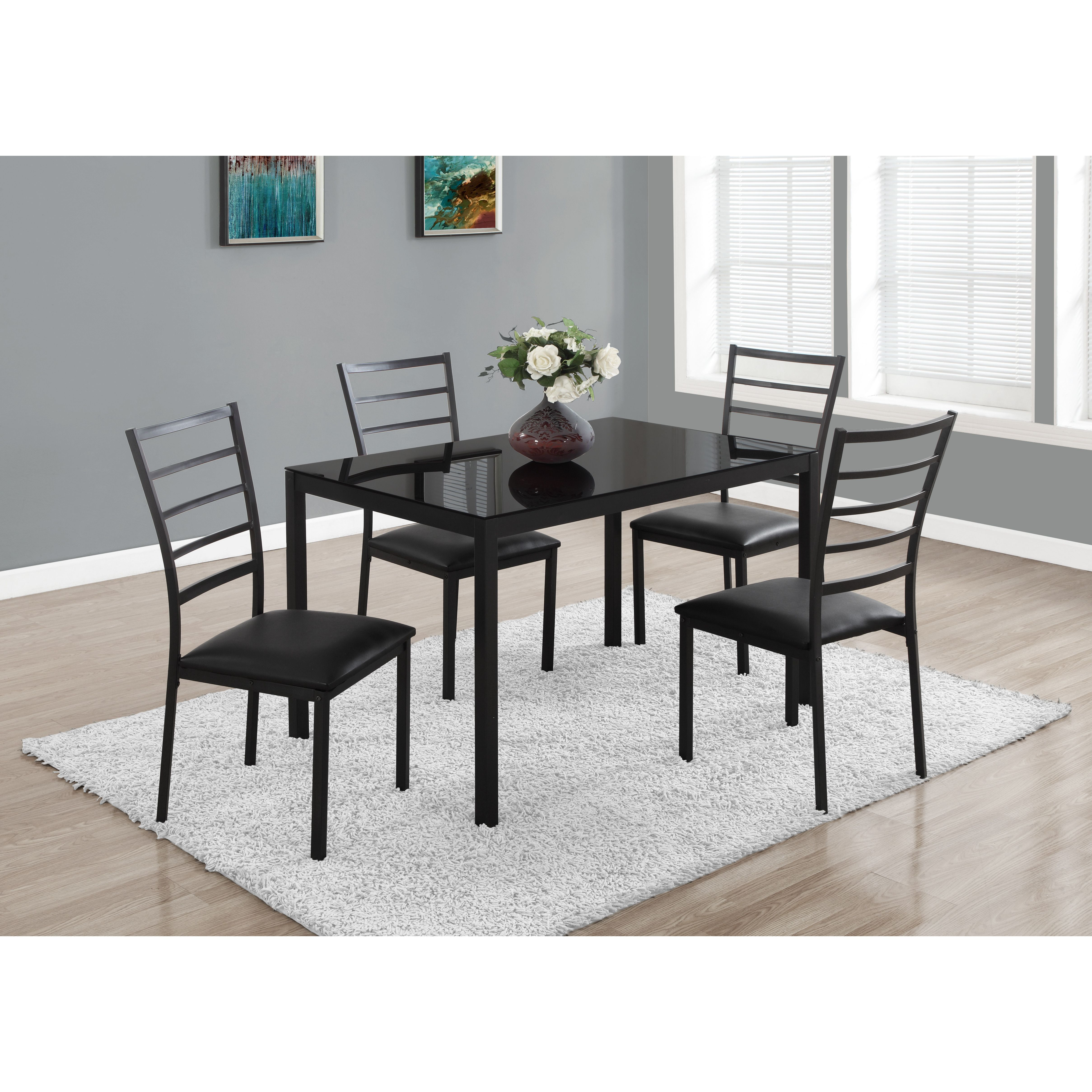 Monarch Specialties Inc5 Piece Dining Set  Apartment Inspo Enchanting Dining Room Chairs Online Design Inspiration