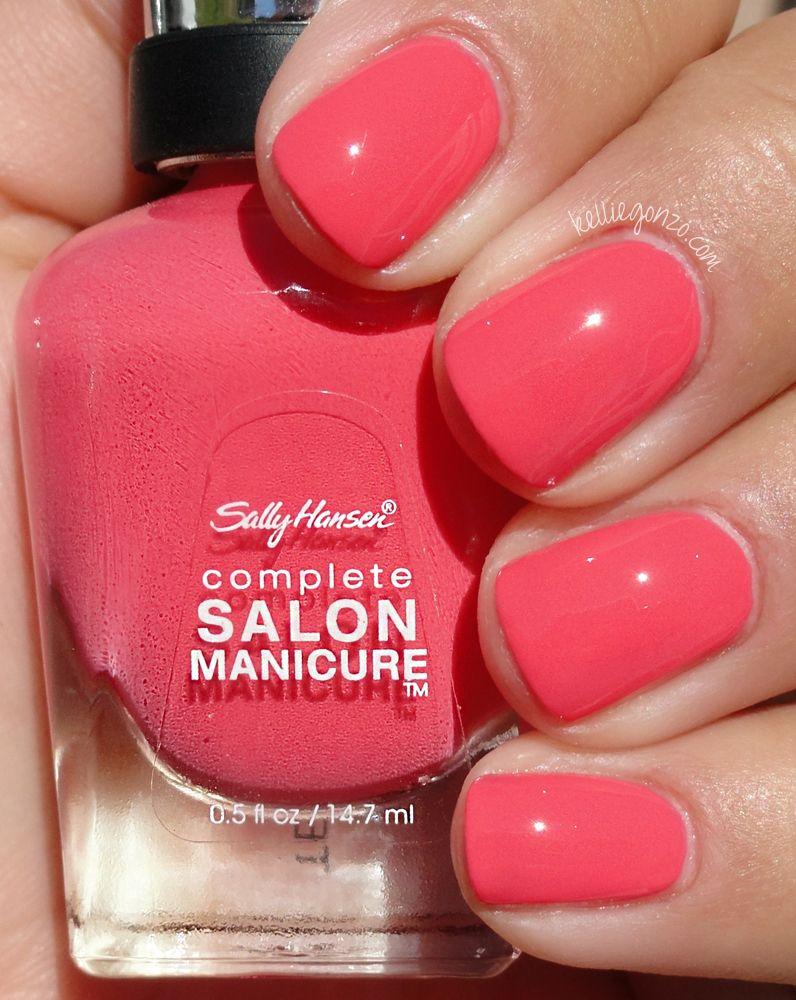 Pink Berry And Coral Red Sally Hansen Nail Polish Joy Nails