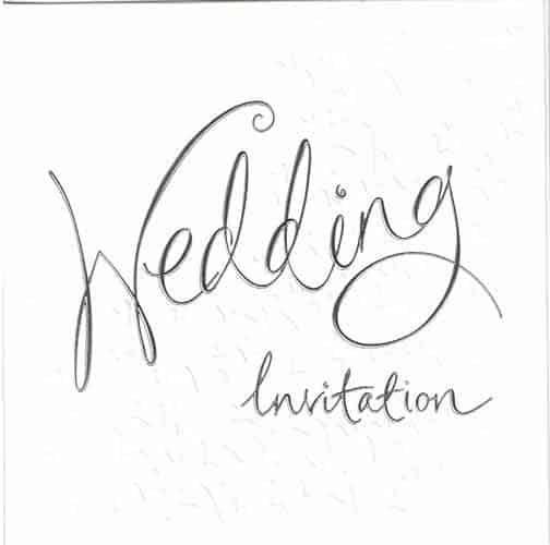 White Wedding Invitations x6 Wedding invitations in a