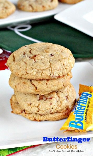 Butterfinger Cookies   Can't Stay Out of the Kitchen