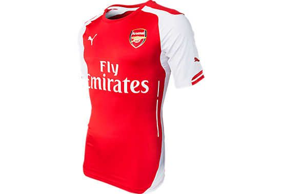 92c229eea 2014 15 Authentic Puma Arsenal Home Jersey. Available at www.soccerpro.com  right now! Sale!