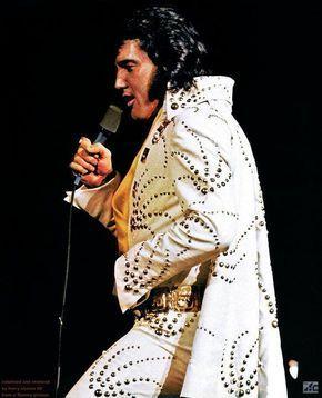 """ELVIS in his """"Adonis"""" jumpsuit; Chicago 1972"""