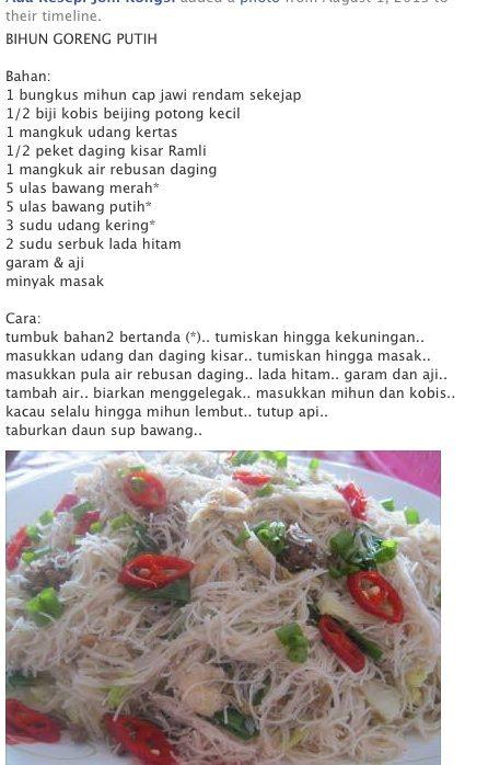 Pin Di Food Local Malay Indonesia Indian Etc