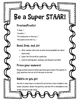 Reading STAAR Tips for Students | STAAR | 6th grade reading