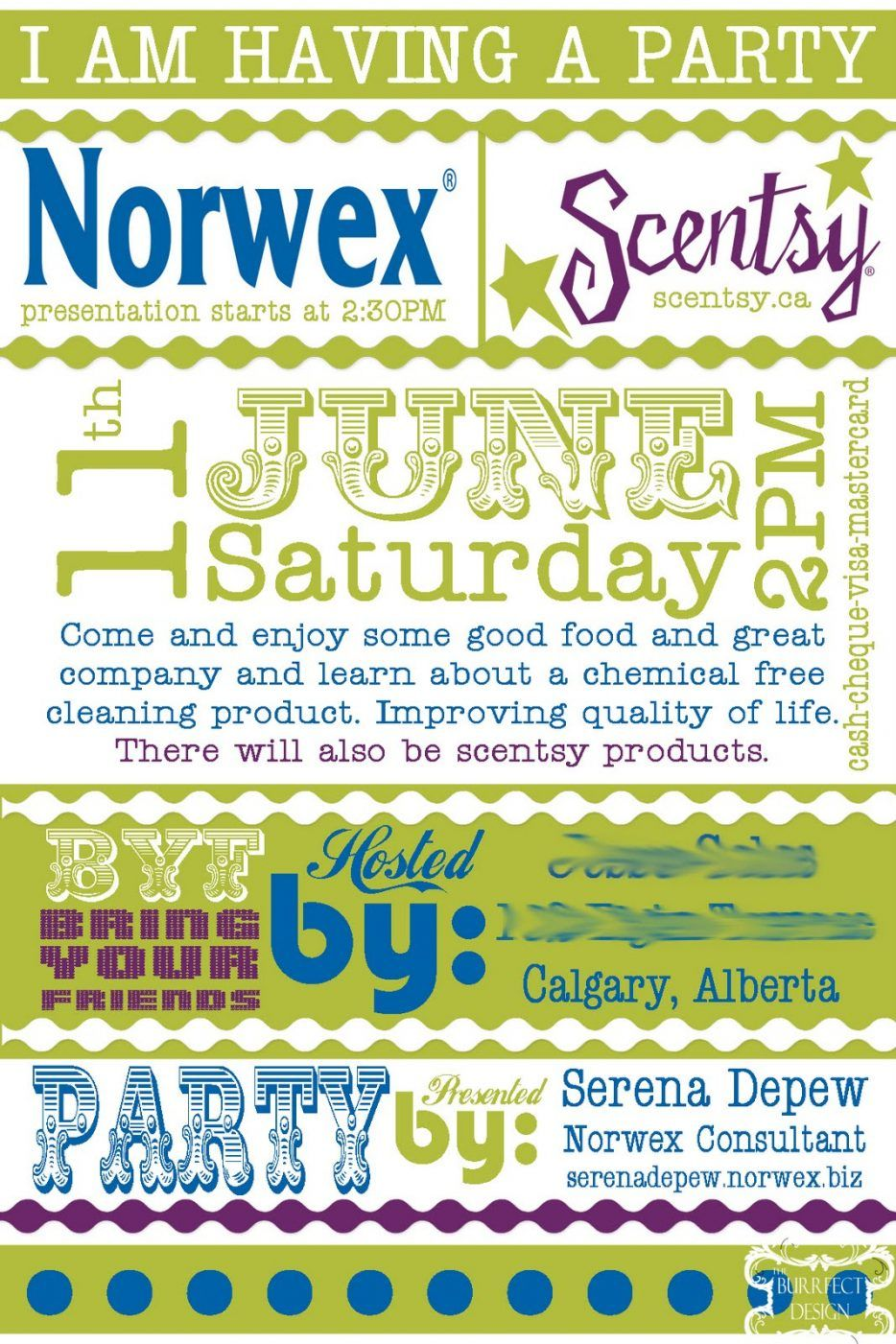 party-invitations-handmade-green-and-white-background-style-norwex ...