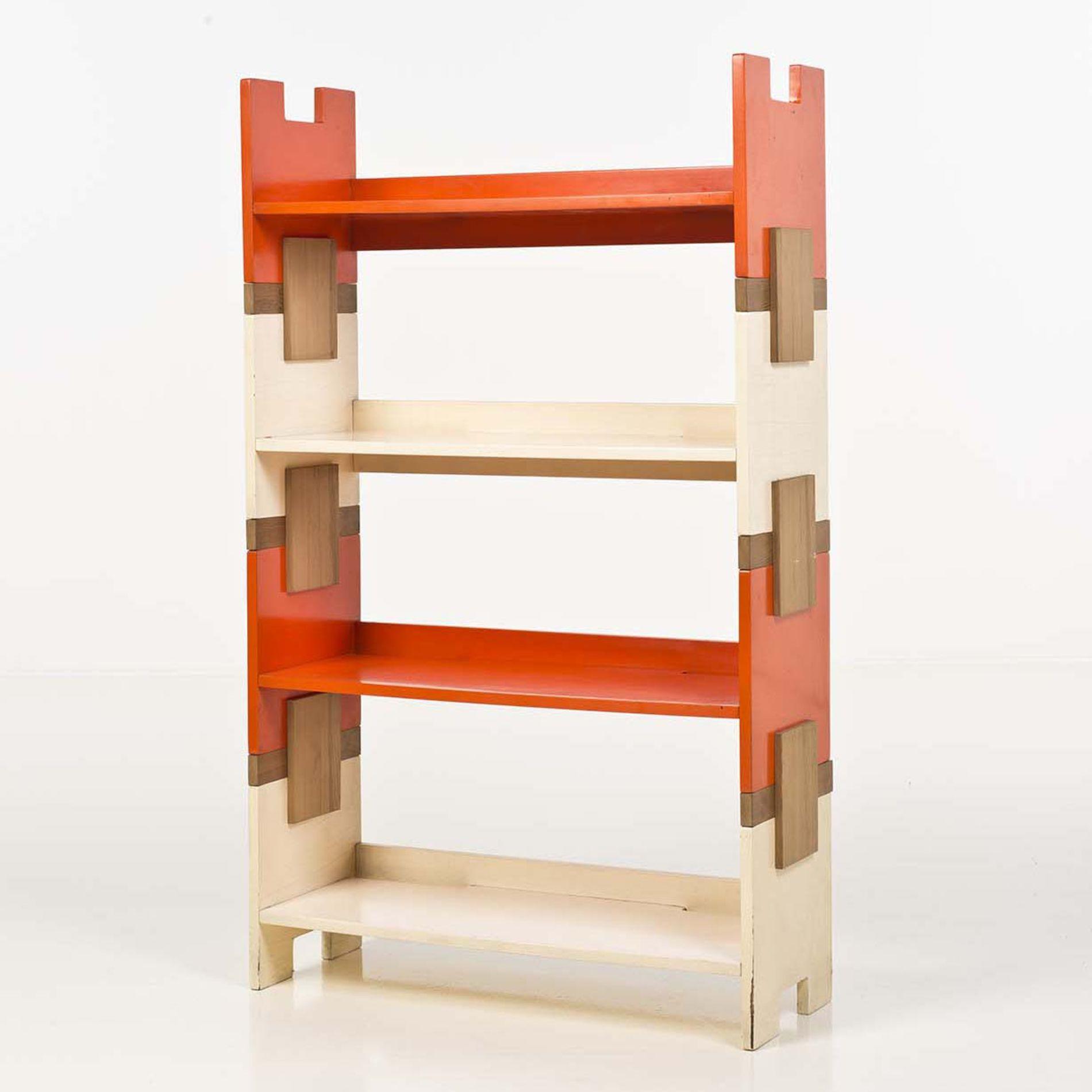 Merveilleux Anonymous; Lacquered Wood Modular Book Shelves, 1970s.