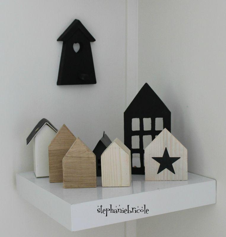 diy petites maisons scandinaves id es pour la maison pinterest atelier noel and bricolage. Black Bedroom Furniture Sets. Home Design Ideas