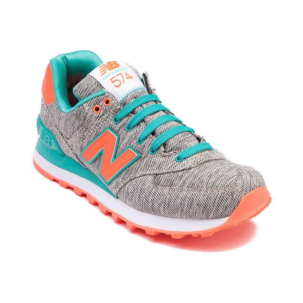 Shop for Womens New Balance 574 Athletic Shoe, Gray Teal Orange, at  Journeys Shoes. The New Balance 574 Athletic Shoe will be your new favorite  sneakers!